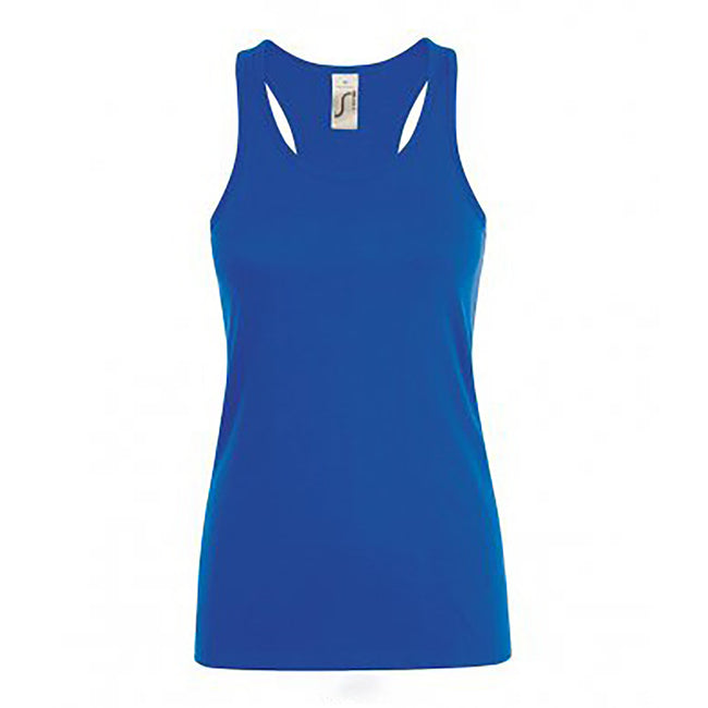 Royal Blue - Front - SOLS Womens-Ladies Justin Sleeveless Vest