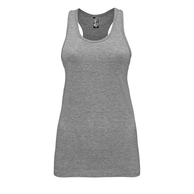 Grey Marl - Front - SOLS Womens-Ladies Justin Sleeveless Vest