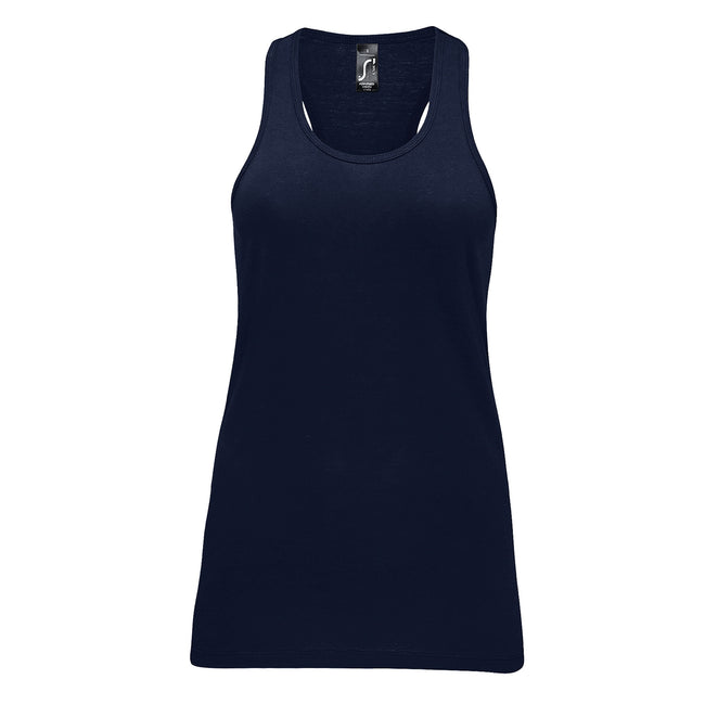 French Navy - Front - SOLS Womens-Ladies Justin Sleeveless Vest
