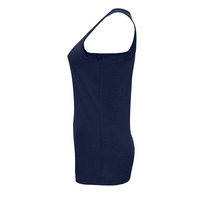 French Navy - Side - SOLS Womens-Ladies Justin Sleeveless Vest