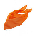 Orange - Front - SOLs Unisex Plain Bandana