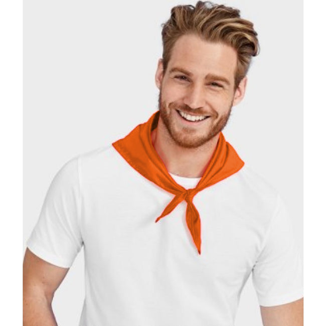 Orange - Back - SOLs Unisex Plain Bandana