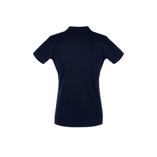 Denim - Front - SOLS Womens-Ladies Perfect Pique Short Sleeve Polo Shirt