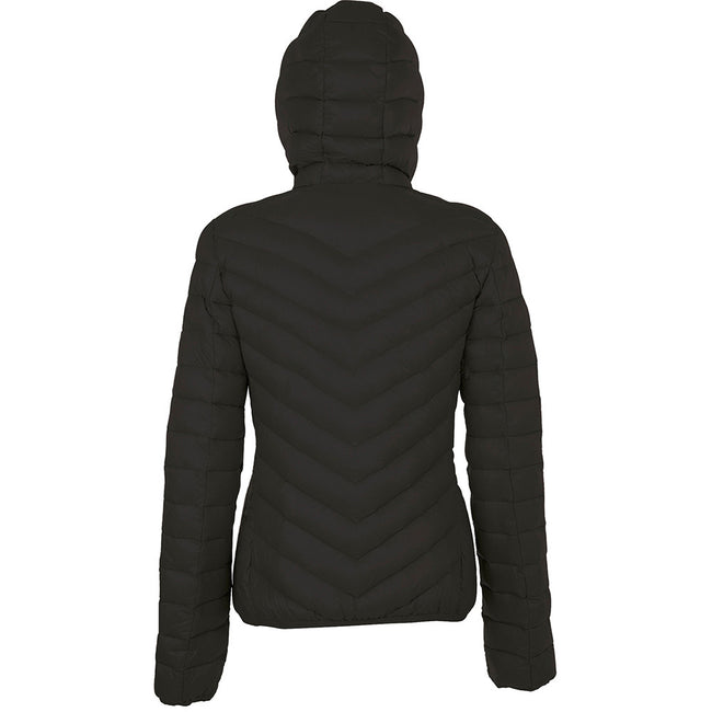 Black - Back - SOLS Womens-Ladies Ray Padded Jacket