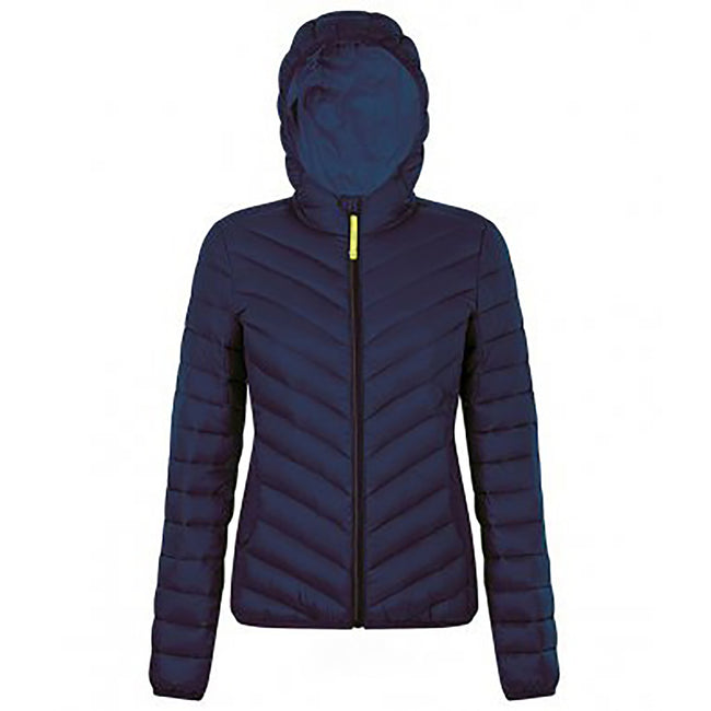 French Navy - Front - SOLS Womens-Ladies Ray Padded Jacket