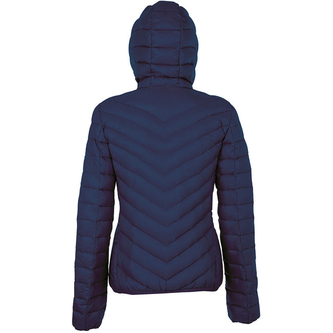 French Navy - Back - SOLS Womens-Ladies Ray Padded Jacket