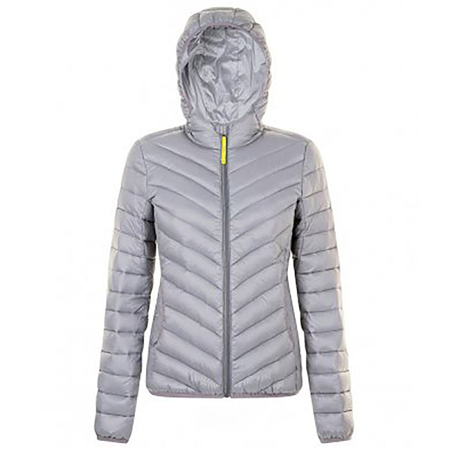 Metal Grey - Front - SOLS Womens-Ladies Ray Padded Jacket