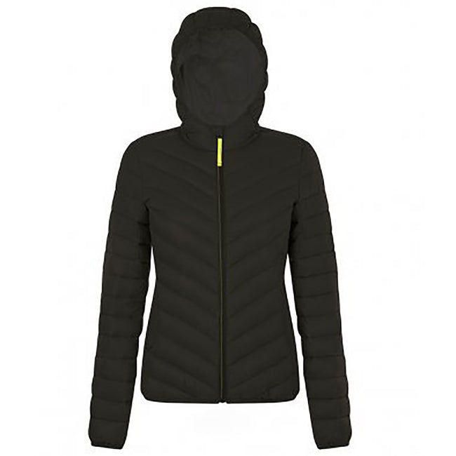 Black - Front - SOLS Womens-Ladies Ray Padded Jacket