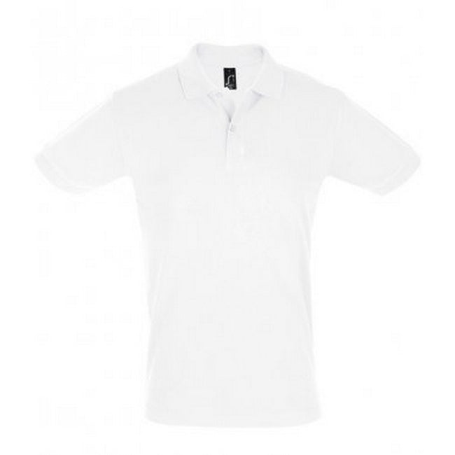 White - Front - SOLS Mens Perfect Pique Short Sleeve Polo Shirt