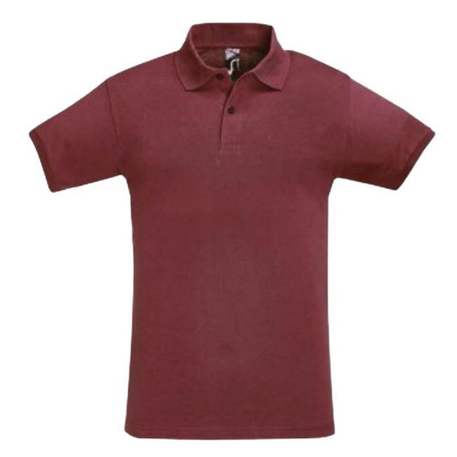 Sand - Front - SOLS Mens Perfect Pique Short Sleeve Polo Shirt
