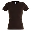 Chocolate - Front - SOLS Womens-Ladies Miss Short Sleeve T-Shirt