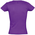Dark Purple - Side - SOLS Womens-Ladies Miss Short Sleeve T-Shirt
