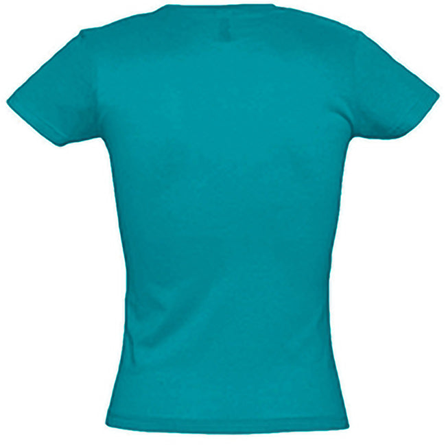 Duck Blue - Back - SOLS Womens-Ladies Miss Short Sleeve T-Shirt