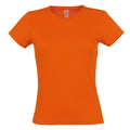 Orange - Front - SOLS Womens-Ladies Miss Short Sleeve T-Shirt