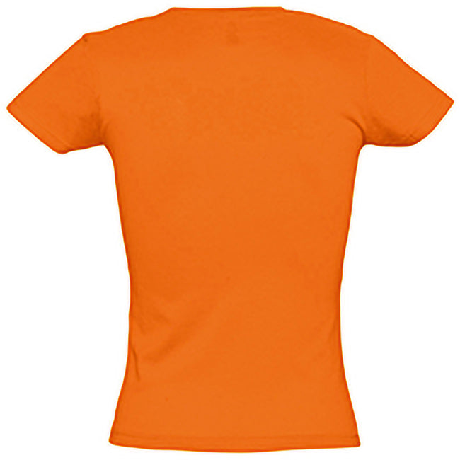 Orange - Back - SOLS Womens-Ladies Miss Short Sleeve T-Shirt