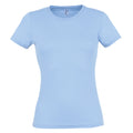 Sky Blue - Front - SOLS Womens-Ladies Miss Short Sleeve T-Shirt