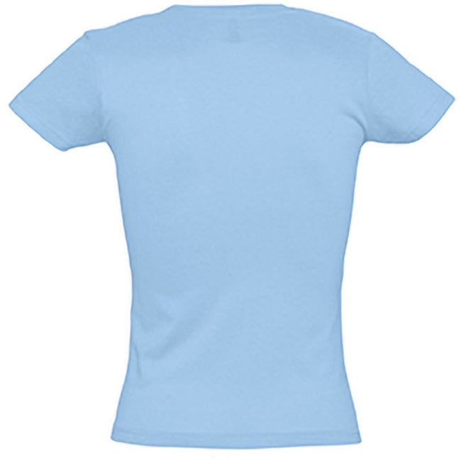 Sky Blue - Back - SOLS Womens-Ladies Miss Short Sleeve T-Shirt