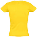 Gold - Back - SOLS Womens-Ladies Miss Short Sleeve T-Shirt