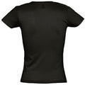 Deep Black - Back - SOLS Womens-Ladies Miss Short Sleeve T-Shirt