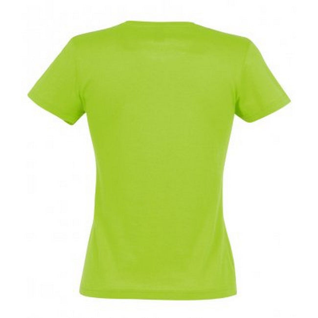 Lime - Front - SOLS Womens-Ladies Miss Short Sleeve T-Shirt