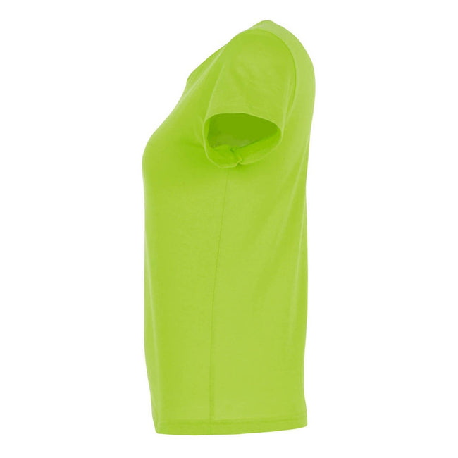 Lime - Back - SOLS Womens-Ladies Miss Short Sleeve T-Shirt