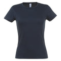 Navy - Front - SOLS Womens-Ladies Miss Short Sleeve T-Shirt