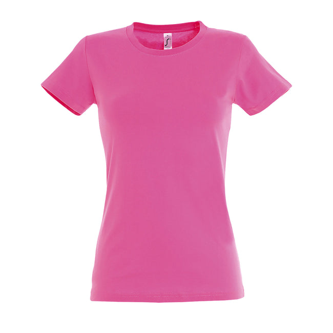 Orchid Pink - Front - SOLS Womens-Ladies Imperial Heavy Short Sleeve T-Shirt
