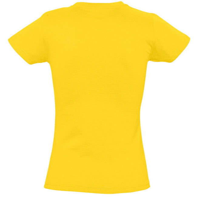 Gold - Back - SOLS Womens-Ladies Imperial Heavy Short Sleeve T-Shirt