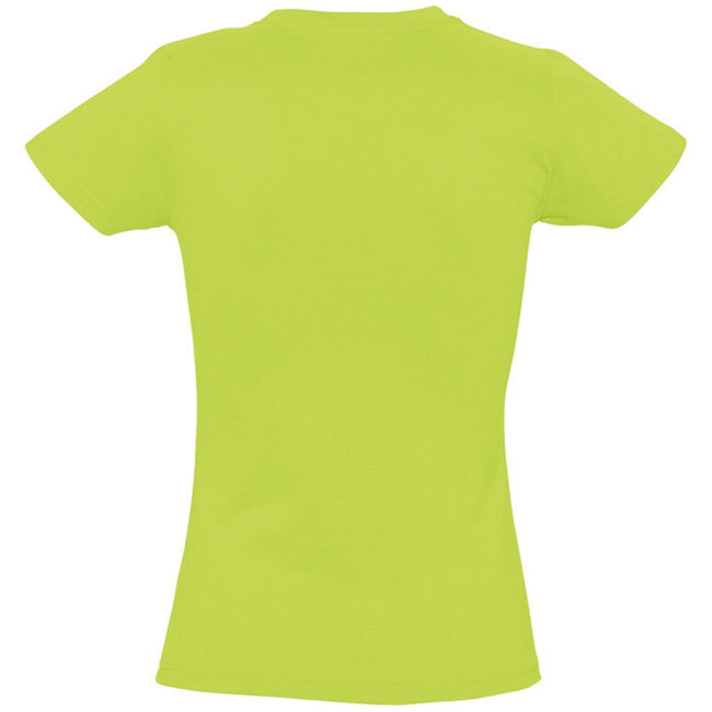 Apple Green - Back - SOLS Womens-Ladies Imperial Heavy Short Sleeve T-Shirt