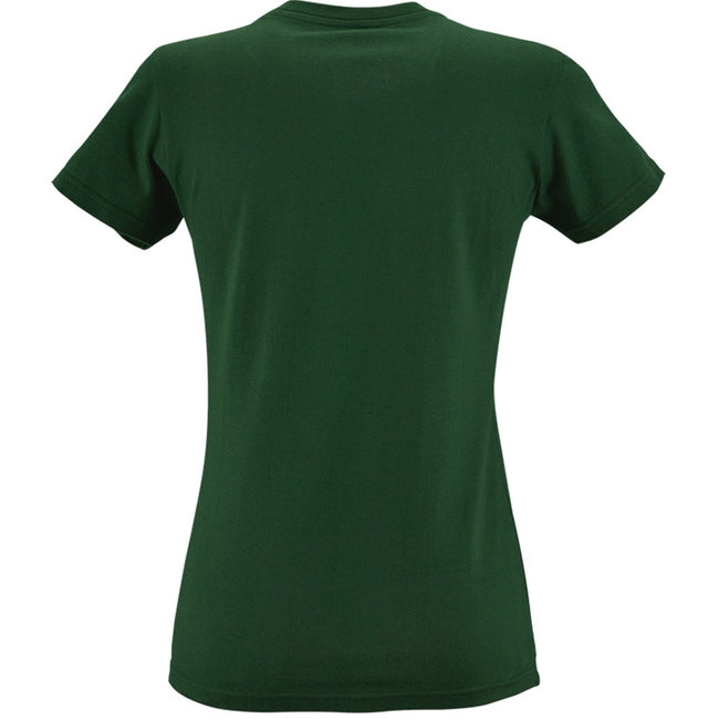 Bottle Green - Back - SOLS Womens-Ladies Imperial Heavy Short Sleeve T-Shirt
