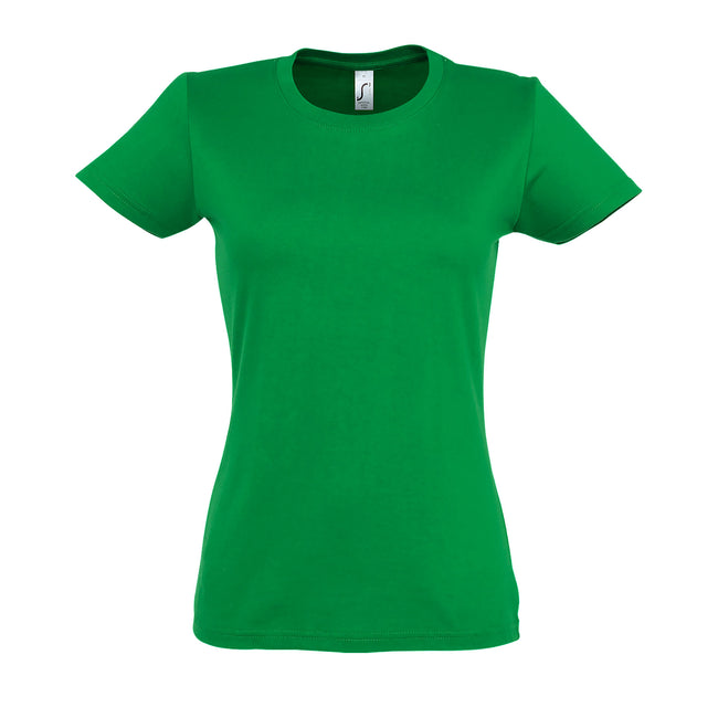 Kelly Green - Front - SOLS Womens-Ladies Imperial Heavy Short Sleeve T-Shirt