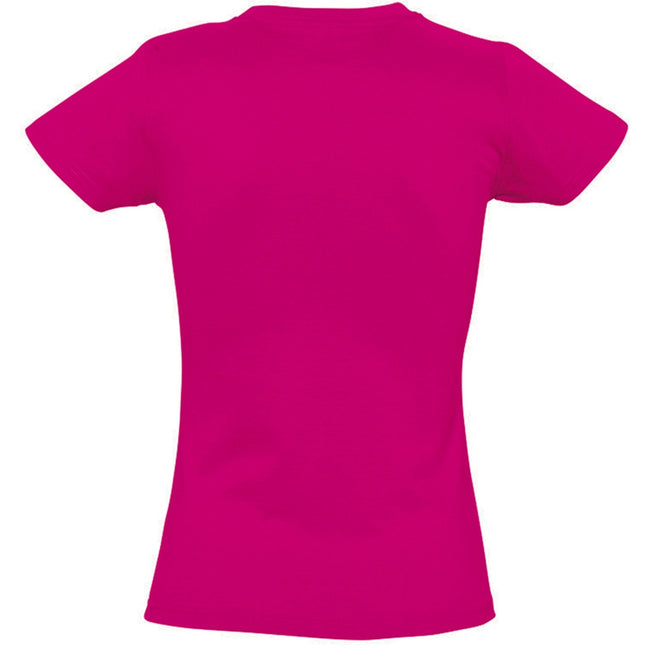 Fuchsia - Back - SOLS Womens-Ladies Imperial Heavy Short Sleeve T-Shirt