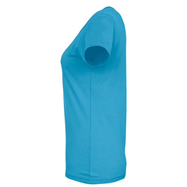 Terracotta - Back - SOLS Womens-Ladies Imperial Heavy Short Sleeve T-Shirt