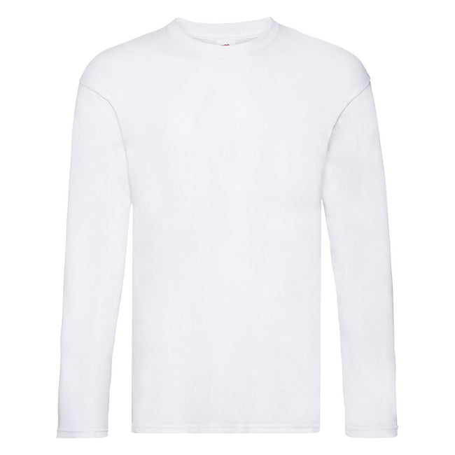 White - Front - Fruit Of The Loom Mens Original Long Sleeve T-Shirt