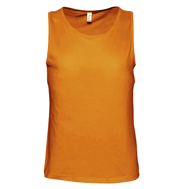 Lemon - Front - SOLS Mens Justin Sleeveless Tank - Vest Top