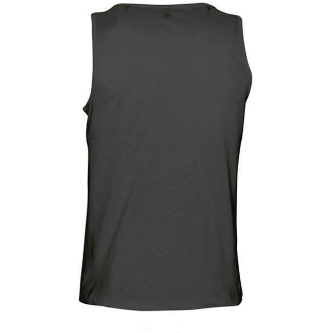 White - Back - SOLS Mens Justin Sleeveless Tank - Vest Top