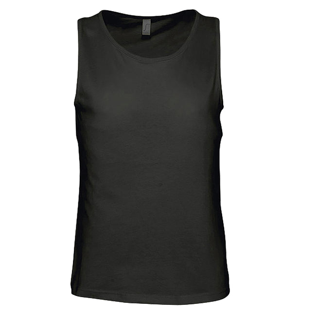 White - Front - SOLS Mens Justin Sleeveless Tank - Vest Top