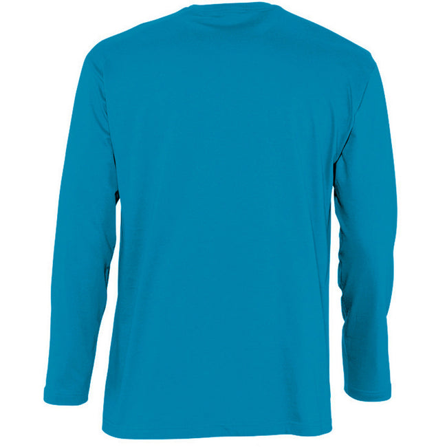 Orange - Back - SOLS Mens Monarch Long Sleeve T-Shirt