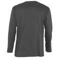 Dark Grey - Back - SOLS Mens Monarch Long Sleeve T-Shirt