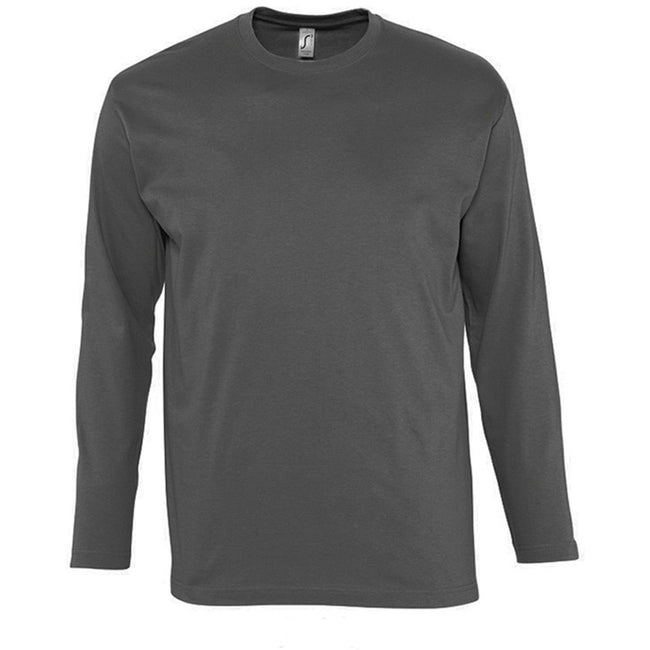 Ultramarine - Front - SOLS Mens Monarch Long Sleeve T-Shirt