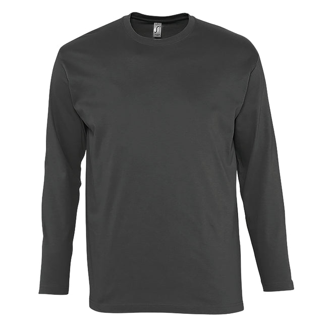 Ultramarine - Back - SOLS Mens Monarch Long Sleeve T-Shirt