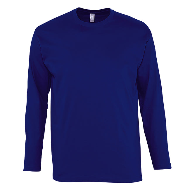 Red - Front - SOLS Mens Monarch Long Sleeve T-Shirt
