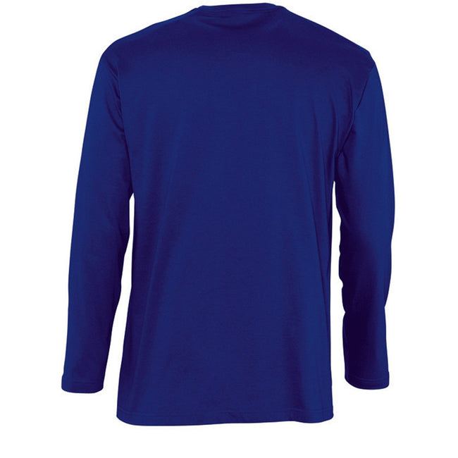 Red - Back - SOLS Mens Monarch Long Sleeve T-Shirt