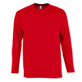 Deep Black - Front - SOLS Mens Monarch Long Sleeve T-Shirt