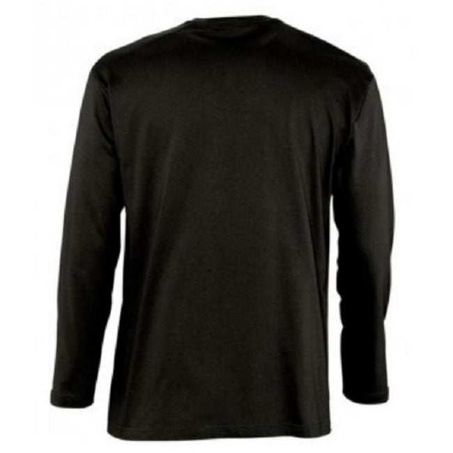 Khaki - Side - SOLS Mens Monarch Long Sleeve T-Shirt