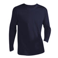 Navy - Front - SOLS Mens Monarch Long Sleeve T-Shirt