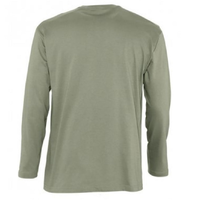 Navy - Side - SOLS Mens Monarch Long Sleeve T-Shirt
