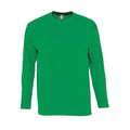 Kelly Green - Front - SOLS Mens Monarch Long Sleeve T-Shirt