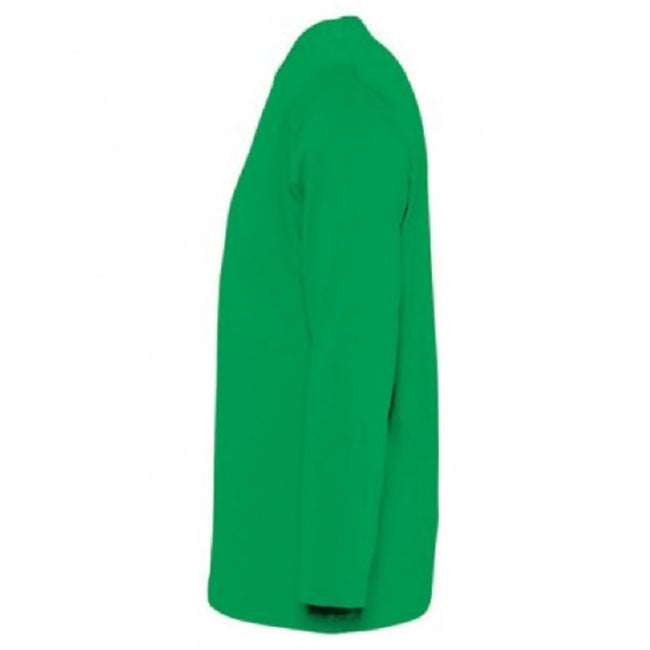 Oxblood - Back - SOLS Mens Monarch Long Sleeve T-Shirt
