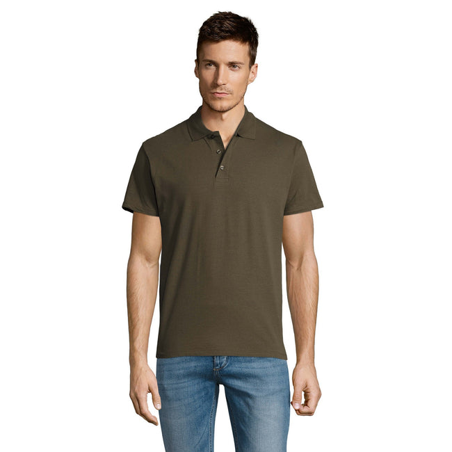 Blue Atoll - Front - SOLS Mens Summer II Pique Short Sleeve Polo Shirt